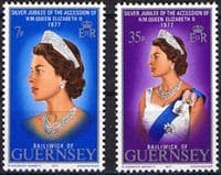 1977 Guernsey Royal Silver Jubilee Set Fine Mint