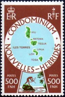 1977 New Hebrides French Islands SGF 268 Fine Mint