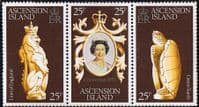 1978 Ascension Coronation 25th Anniversary Strip Fine Mint