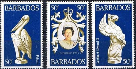1978 Barbados Coronation 25th Anniversary Set Fine Mint