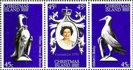 Stamps  1978 Christmas Islands Coronation 25th Anniversary Set Fine Mint SG 96 8 Scott 87