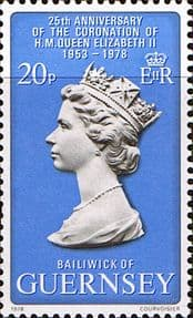 Postage Stamps 1978 Guernsey Coronation 25th Anniversary Fine Mint