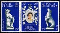 1978 South Geogia Coronation 25th Anniversary Strip Fine Mint