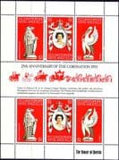 1978 St Christopher, Nevis & Anguilla Coronation 25th Anniversary Mini Sheet Fine Mint