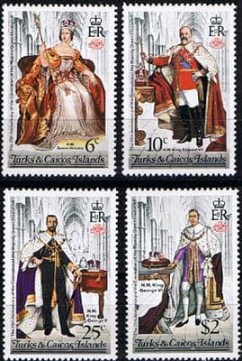 Stamps 1978 Turks and Caicos Islands Coronation 25th Anniversary Set Fine Mint Perf 14