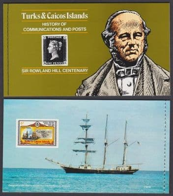1979 Turks and Caicos Islands Rowland Hill Booklet SB3 Fine Mint