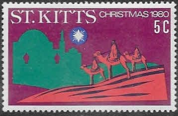 1980 St Kitts Christmas SG 49 Fine Mint