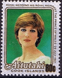 Stamps Cook Islands Aitutaki Island 1984 Royal Baby Prince Henry Fine Mint