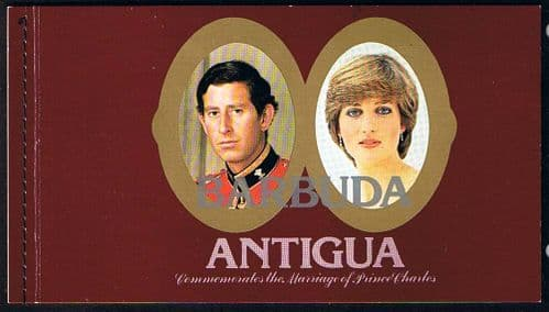 1981 Barbuda Charles and Diana Royal Wedding $11.25 Booklet Fine Mint