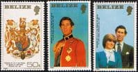 1981 Belize Charles and Diana Royal Wedding Set (Large) Fine Mint