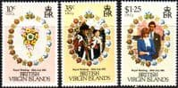 1981 British Virgin Islands Charles and Diana Royal Wedding Set Fine Mint