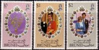1981 Brunei Charles and Diana Royal Wedding Set Fine Mint