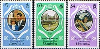 1981 Dominica Charles and Diana Royal Wedding P12 Colour Change Fine Mint