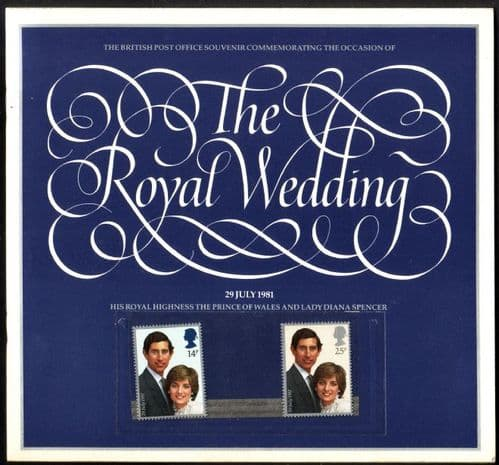 1981 Great Britain Charles and Diana Royal Wedding Souvenir Book Fine Mint