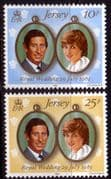 1981 Jersey Charles and Diana Royal Wedding Set Fine Mint