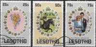 1981 Lesotho Charles and Diana Royal Wedding Set Fine Used