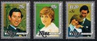 1981 Niue Charles and Diana Royal Wedding Set Disabled Surcharge Fine Mint