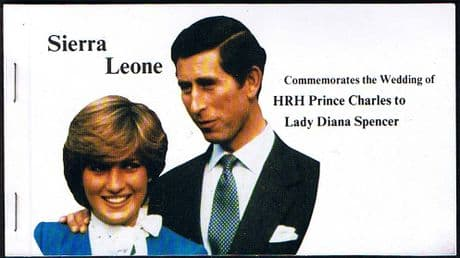 1981 Sierra Leone Charles and Diana Royal Wedding Booklet Fine Mint