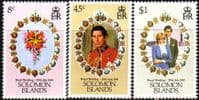 1981 Solomon Islands Charles and Diana Royal Wedding Set Fine Mint
