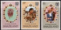 1981 Swaziland Charles and Diana Royal Wedding Set Fine Mint