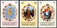 1981 Vanuatu Charles and Diana Royal Wedding Set Fine Mint