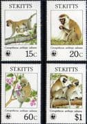 1986 St Kitts Endangered Species Set Fine Mint