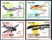 South West Africa 1989 Planes and Aviation Set Fine Mint