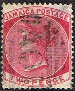 Stamps Jamaica 1860 Queen Victoria SG 3 Fine Used  Scott 3
