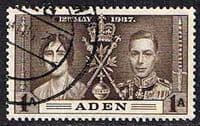 Aden 1937 Coronation SG 13 Fine Used