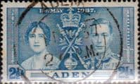 Aden 1937 Coronation SG 14 Fine Used