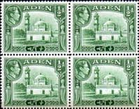 Aden 1939 SG 16 Aidrus Mosque Fine Mint Block of 4