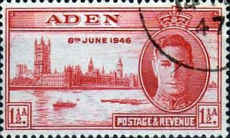 Aden 1946 King George Vi Victory SG 28 Adenese Dhow Fine Used