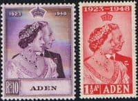 Aden 1948 King George VI Royal Silver Wedding Set Fine Mint