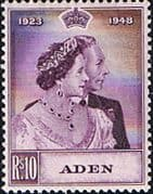 Aden 1948 SG 31 Royal Slver Wedding Fine Mint