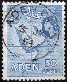 Aden 1953 SG 58 Map Fine Used