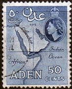 Aden 1953 SG 59 Map Fine Used