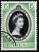 Aden Queen Elizabeth II 1953 Coronation Fine Used