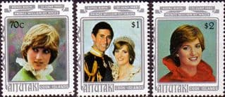 Aitutaki 1982 Royal Baby Prince William Set 2nd Issue Fine Mint