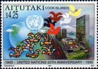 Aitutaki Island 1995 United Nations Set Set Fine Mint