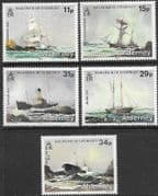 Alderney 1987 Shipwrecks Set Fine Mint