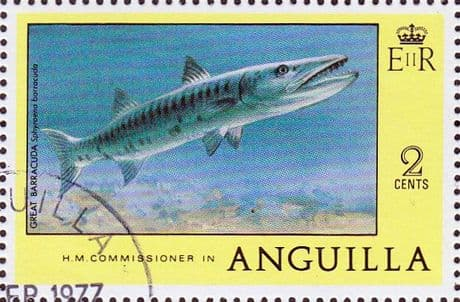 Anguilla 1977 Great Barracuda SG 275 Fine Used