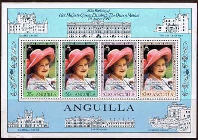 Anguilla 1980 Queen Mothers 80th Birthday Miniature Sheet Fine Mint