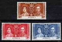 Antigua 1937 King George VI Coronation Set Fine Mint