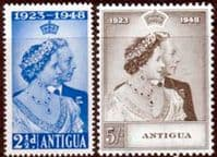 Antigua 1948 King George VI Royal Silver Wedding Set Fine Mint