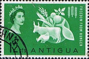 Antigua 1963 Freedom From Hunger Fine Used