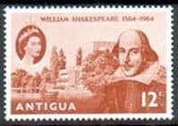 Antigua 1964 William Shakespeare Fine Mint
