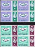 Antigua 1965 International Co-operation Year Set Fine Mint Block of 4