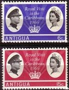 Antigua 1966 Caribbean Royal Visit Set Fine Mint