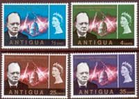 Antigua 1966 Churchill Set Fine Mint