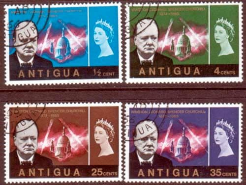 Stamps of Antigua 1966 Churchill Set Fine Used